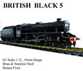 Black 5 , 1:32 Live Steam Locomotive (Brass made)