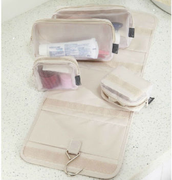 Foldable Mesh Toiletries Travel Bag
