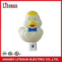 UL ETL Litesun LD 11 A23 Cartoon Duck LED Sensor Night Light