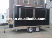 Yieson 2015 Fiber Glass mobile field kitchen concession trailer mobile kebab van YS-FB400