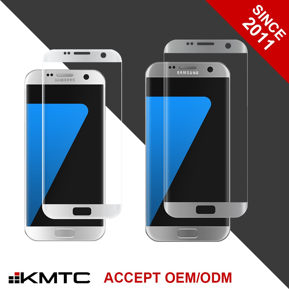 KMTC OEM Factory 3D Curved Anti Glare Screen Protector S6 Edge Curved for Samsung SGS