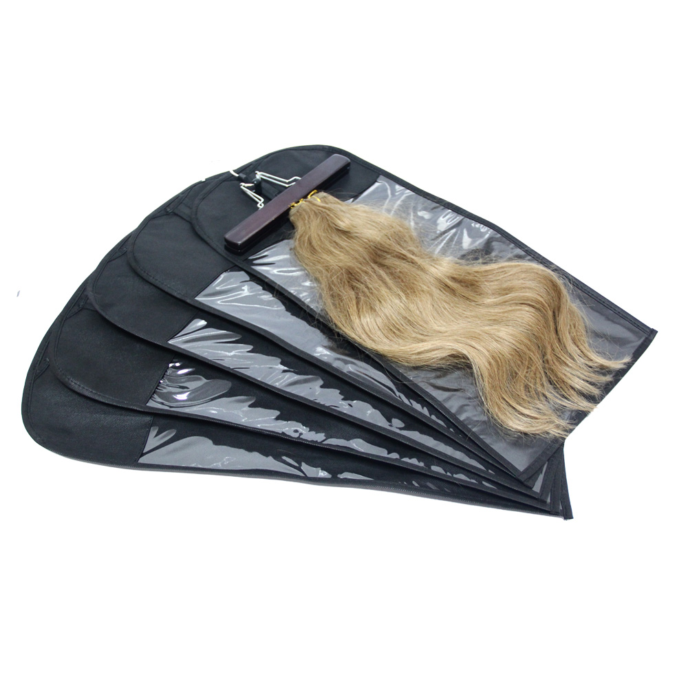 Custom wig clear window hair extension packaging bag