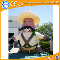 Vivid design inflatable police/inflatable figures/policeman inflatable