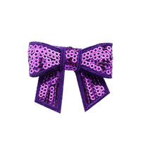 Fabric Glitter Sequin Bows Wholesale Children Hair Accessories For Girls