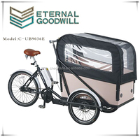 Adult tricycle/three wheel bicycle 7speeds bikes 36V 9A Li-ion electric cargo bike/bakfiets/cargo bicycles UB9036E