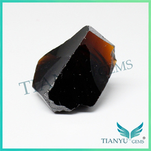 Raw Material Supplier Nanosital Caramel Color Gems Rough Uncut Stone For Fashion Jewelry