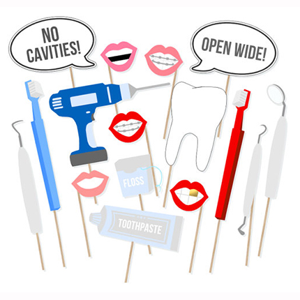 16pcs Dentist teeth Party Decor Photo Props