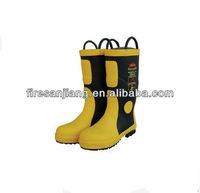 Low price fireman rubber boots