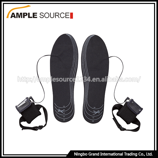 Ski boot battery heated insoles , shoes warmer heat insoles