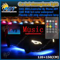RGB Upgraded LED Car Underglow Light Underbody System Flexible RGB Under Car Bulb Kits