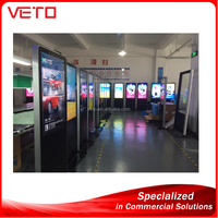 touch screen kiosk totem lcd display shopping mall advertising touch screen kiosk