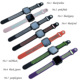 Classic silicon sports watch bands for fitbit versa smart watch rubber loop for watch