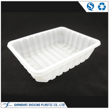 Biodegradable White PP Fresh Frozen Food Tray