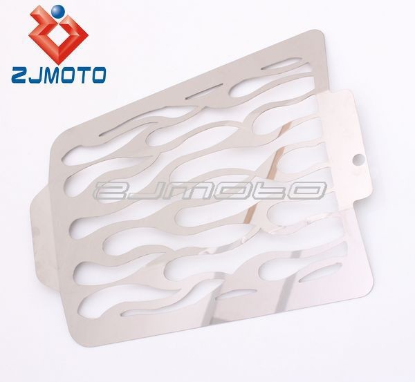 Motorcycle Polished Stainless Flames Radiator Grille Guard Cover Protector For Boulevard M109R All Years 2006-2011 07 200