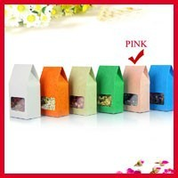 High Quality 8cm*15.5cm+5cm Bottom *140Mciron Pink Stand Up Bags Kraft Paper Box Food Snack Packaging And Pouch