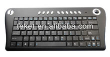 2.4G Slim RF and Bluetooth Cordless Mini Trackball Keyboard K1