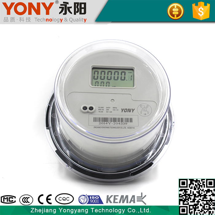 Microelectronic Technology Round single phase three wire digital Socket watt hour meter with ANSI standard