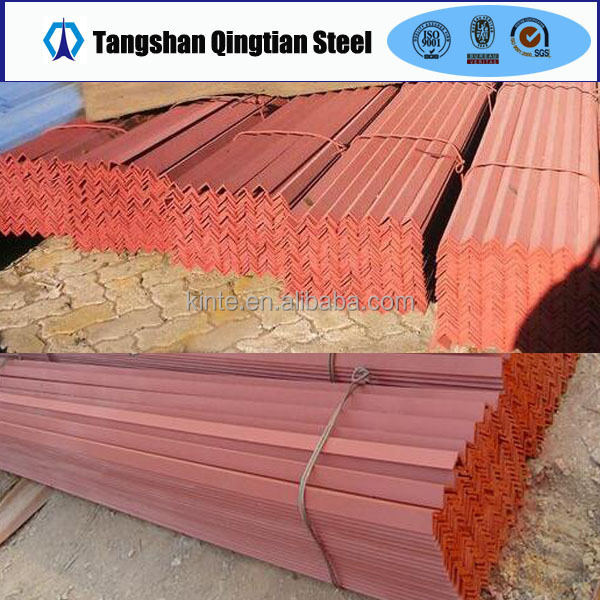 sandblasted painted red oxide primer hot rolled steel angle bar