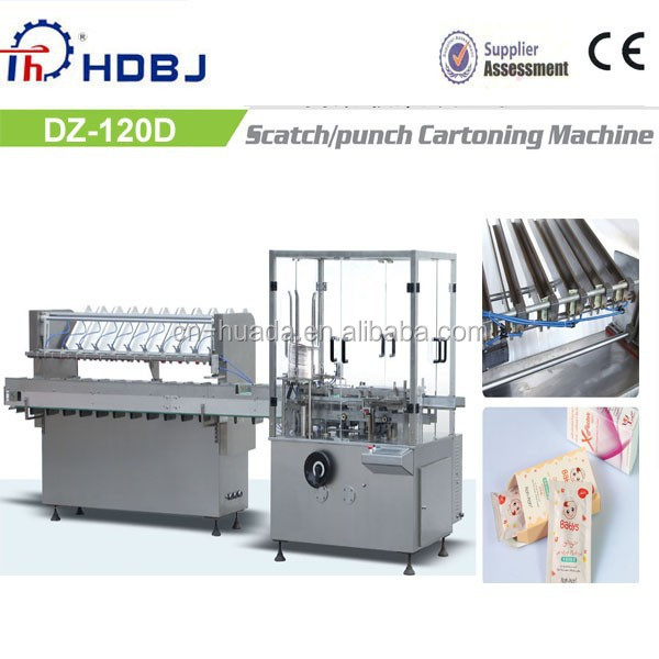DZ-120D Full Automatic Cartoning Machinery for Condom/Sachet/Pouch