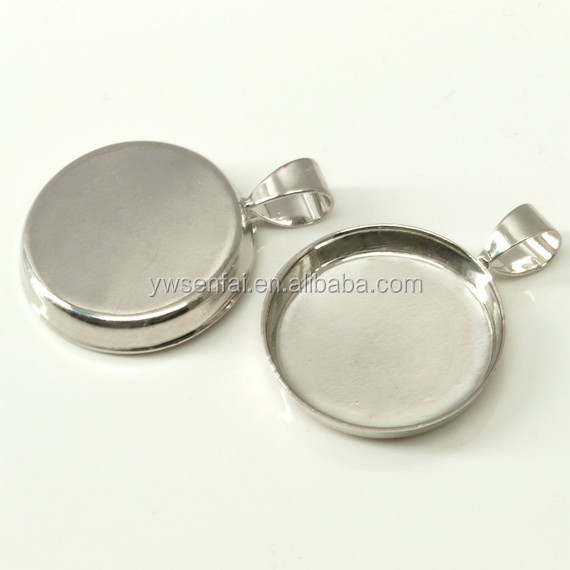 New 2015 yiwu factory fashion product OEM all kinds size silver pendant trays