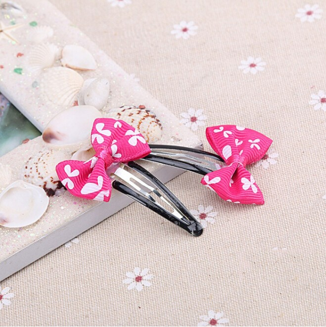2016Fashion kids hair accessories for baby lovely bow clips