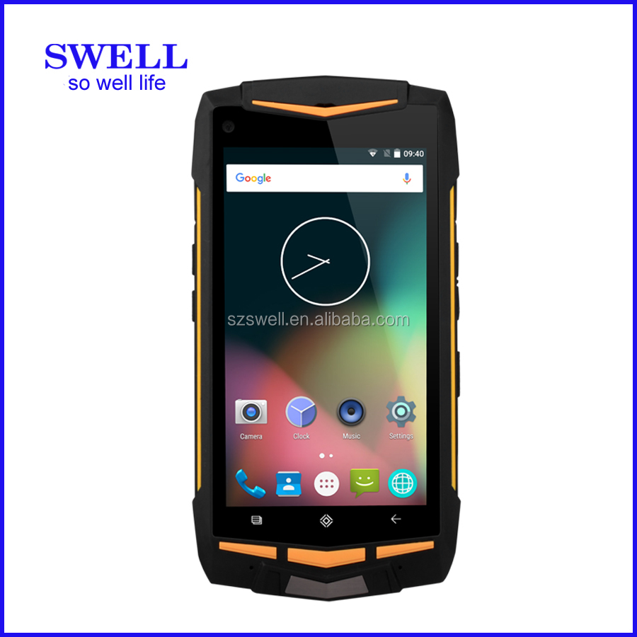 SWELL V1H SWELL V1H QR code scanner sos button android 5.1 4g randroid 5.1 4g rugged mobile phone Android AT&T