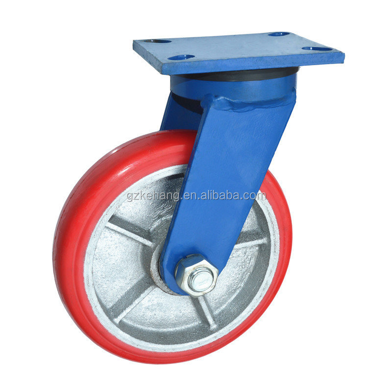extra heavy duty caster wheel,200mm swivel industry casters,caster with plate