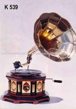 Nostalgic gramophone, antique reproduction gramophone, gramophone player