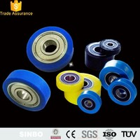 Custom made wear-resisting polyurethane rubber silicone covered bearings plastic-coated bearings