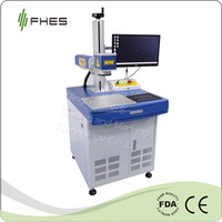 FHES Manufactory 10W/20W/30W Fiber Laser engraving Marking Machine for Metal&Plastic ABS PP PC on Packing industry