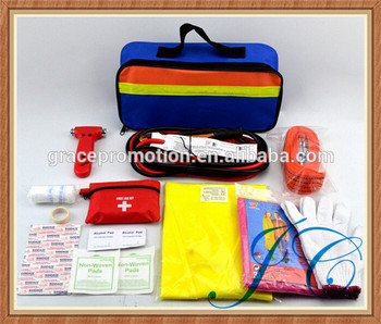 2017 Most creative mini portable car emergency first aid kit made in China