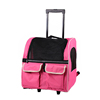 Backpack Pet Carrier on wheels travel rolling Luggage dog bags walking with mat