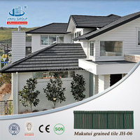 Forest green shingle Stone Coated Steel Roofing Tile/metal roofing tile
