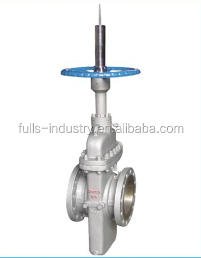 Manual carbon steel double disc flat plate gate valve