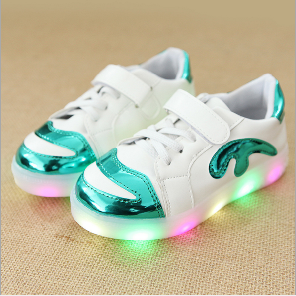 LED Sneakers Shoes Kids Fashion Factory 2018 European Best Selling South America