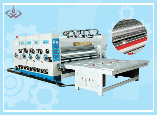 semi-automatic corrugated cardboard sticker printing machine