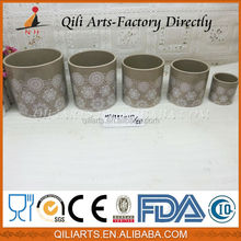 ceramic glazed planter art pottery