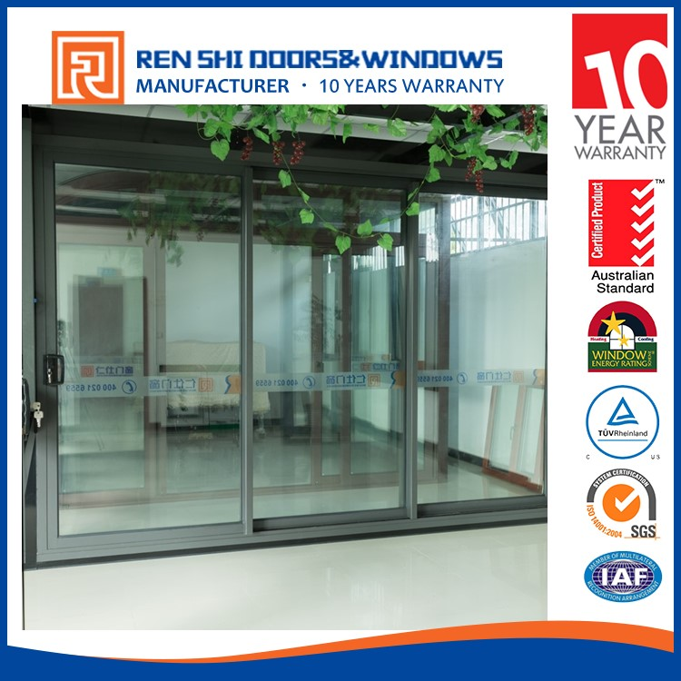 Hot sale fire rated glaze frameless glass sliding doors
