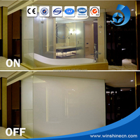 Colored Glass Partitions For Shower Room