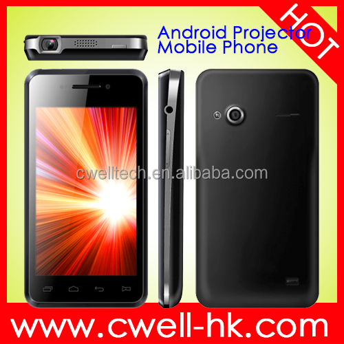 Unlocked MTK6577 dual core andorid smartphone 4.0 inch dual sim cheap projector mobile phone