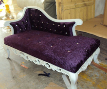 carved antique chaise lounge 022