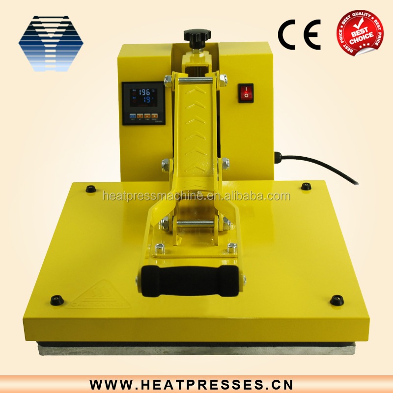 2015 hot sale cheap used machine t-shirt priting clamshell heat press machine