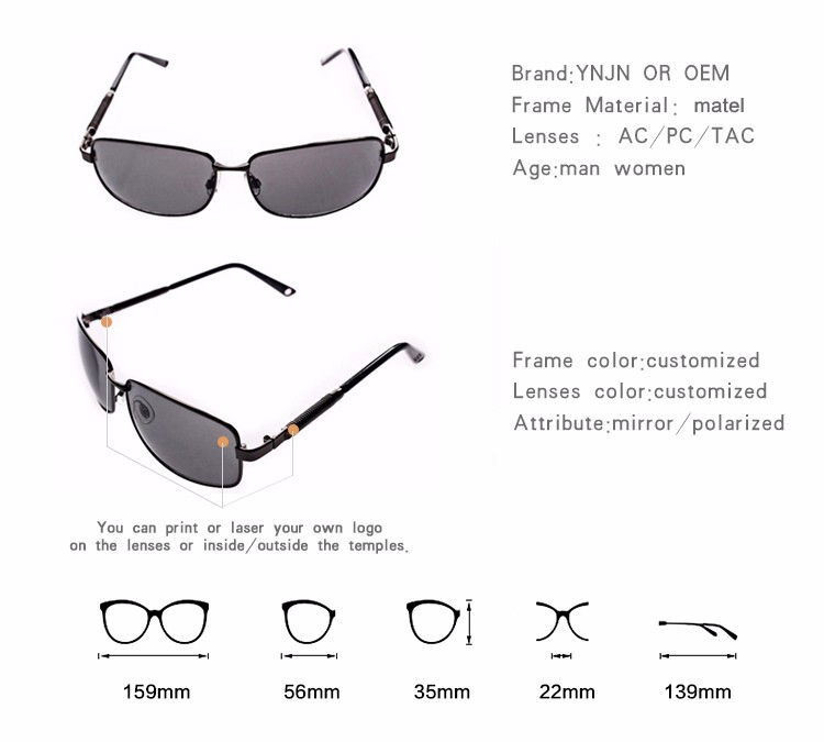 Smoke lenses color from China manufacturers no logo sunglasses