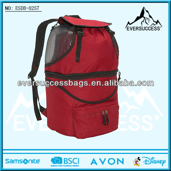 Wine Cooler Backpack to Divided into Mesh Section and Insulated Section(ESDB-0257)