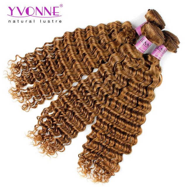Yvonne deep wave 100 unprocessed virgin peruvian hair weave brands