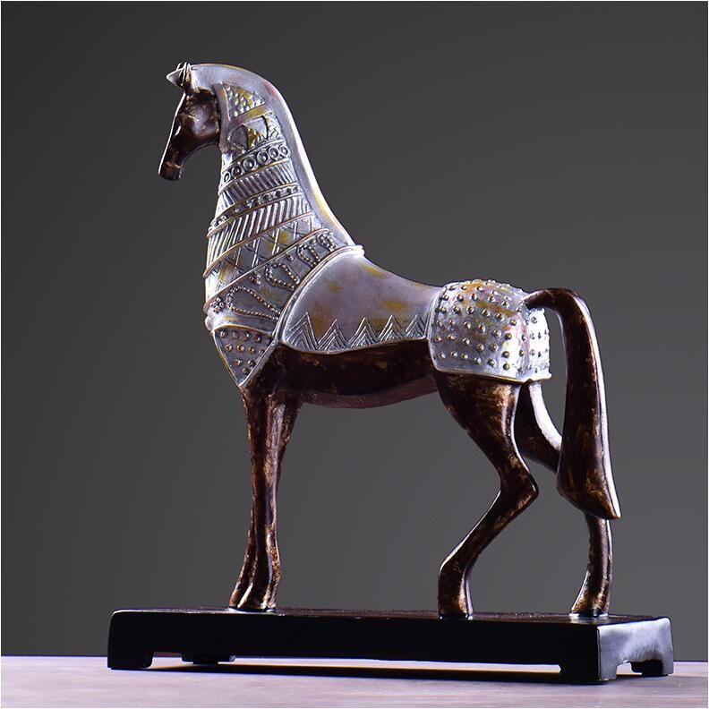 Handmade Animal Ornaments Resin Horse Figurines