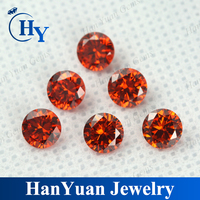 Good looking synthetic diamond round brilliant cut cubic zirconia gemstone