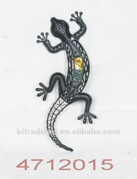 climbing metal lizard for decoration