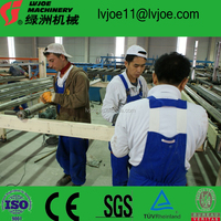 Automatic gypsum plaster wall board plant from Lvjoe machinery