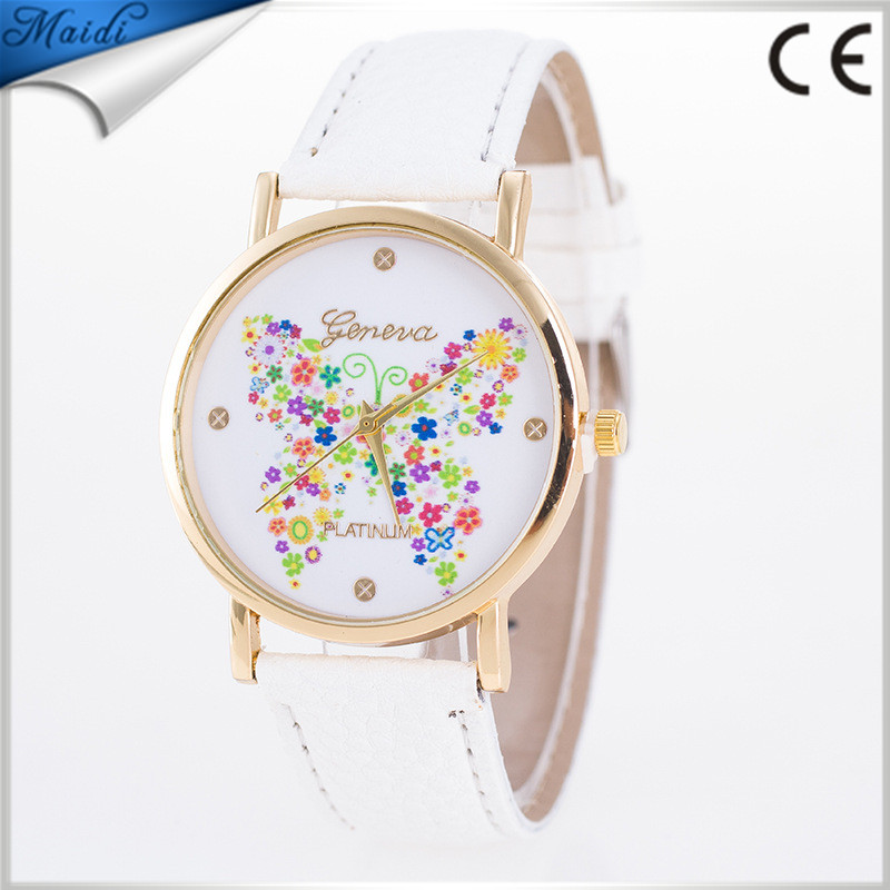 Hot Women Watches Montre Femme Butterfly Patterns Analog Vogue Quartz Ladies Watch LW043